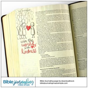 Bible Journaling Ephesians 4:32 Stick People Kindness