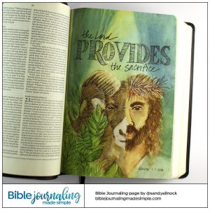 Bible Journaling Gen 22:Jehovah Jireh