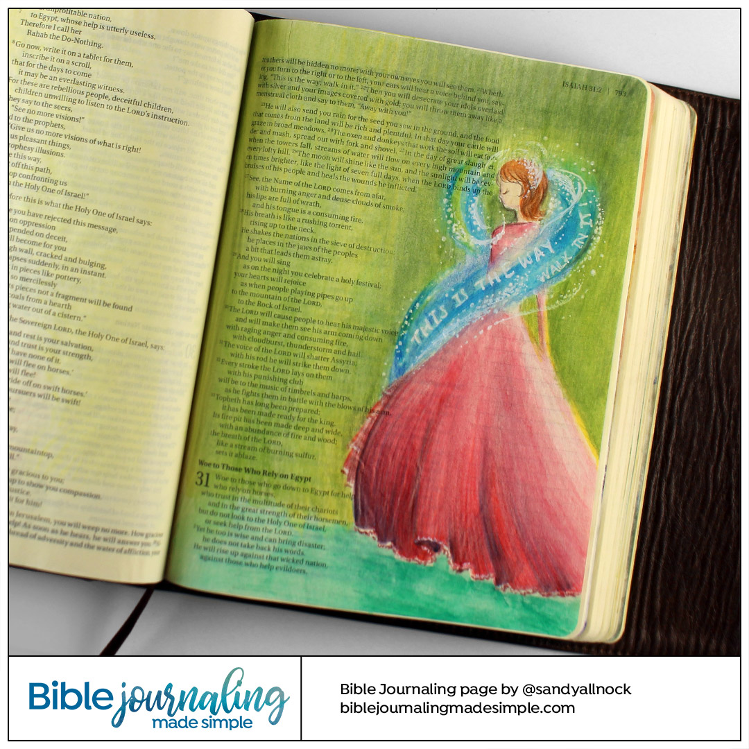 Bible Journaling Isaiah 30:21 This Is The Way Walk In It