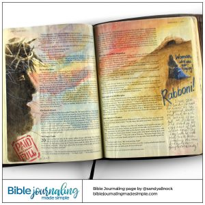 Bible Journaling John 19-20 Crucifixion to Resurrection