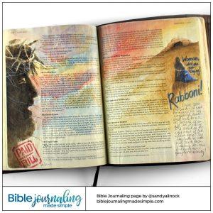 Bible Journaling John 19-20 Crucifixion to Resurrection