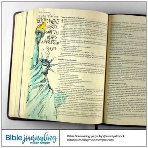 Bible Journaling Luke 4:18-19 Good News