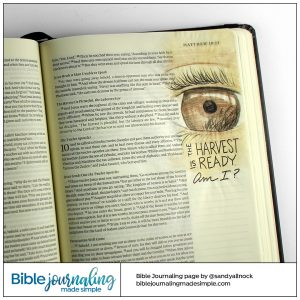 Bible Journaling Matthew 9:37-38 Eye on the Harvest