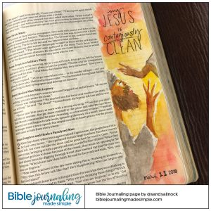 Bible Journaling Mark 1:40 Contagiously Clean