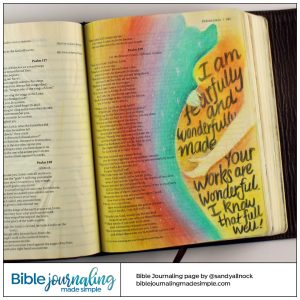 Bible Journaling Psalm 139:14 Wonderfully Made