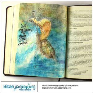 Bible Journaling Acts 27 Ship in a Storm