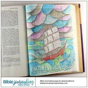 Bible Journaling Acts 27:25 Faith for all