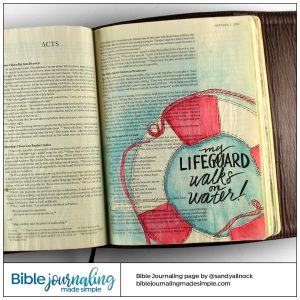 Bible Journaling Acts 2:21 My Lifeguard