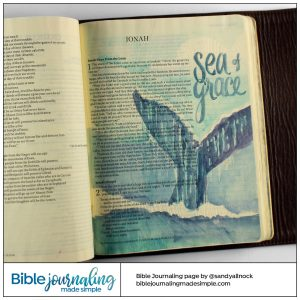 Bible Journaling Jonah 1:17 Sea of Grace