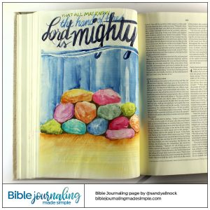 Bible Journaling Joshua 4:7 Memorial Stones
