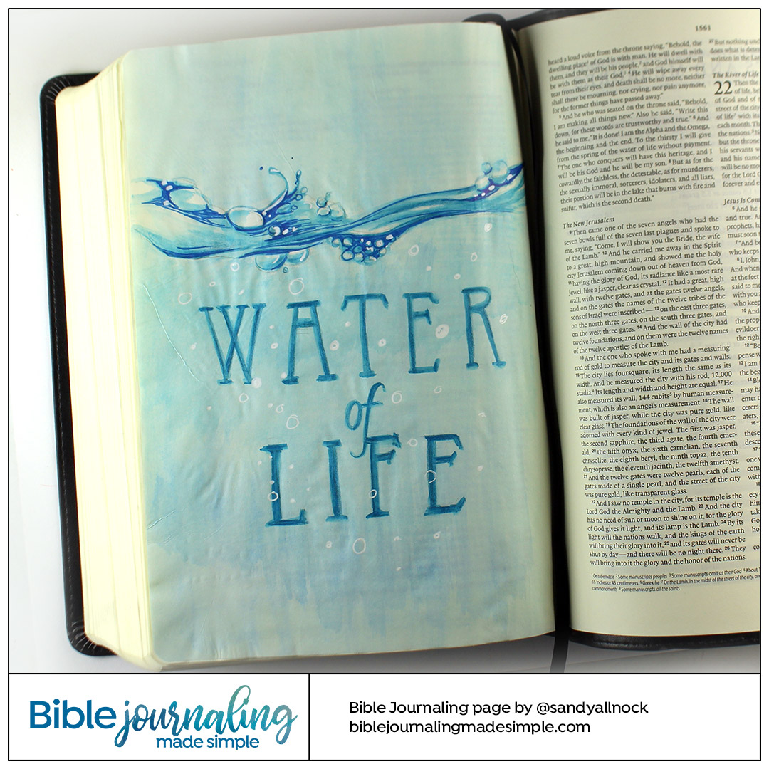 Bible Journaling Revelation 22:1 Water of Life