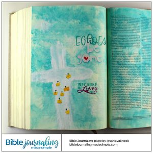 Bible Journaling Ephesians 3:20-21 Cross