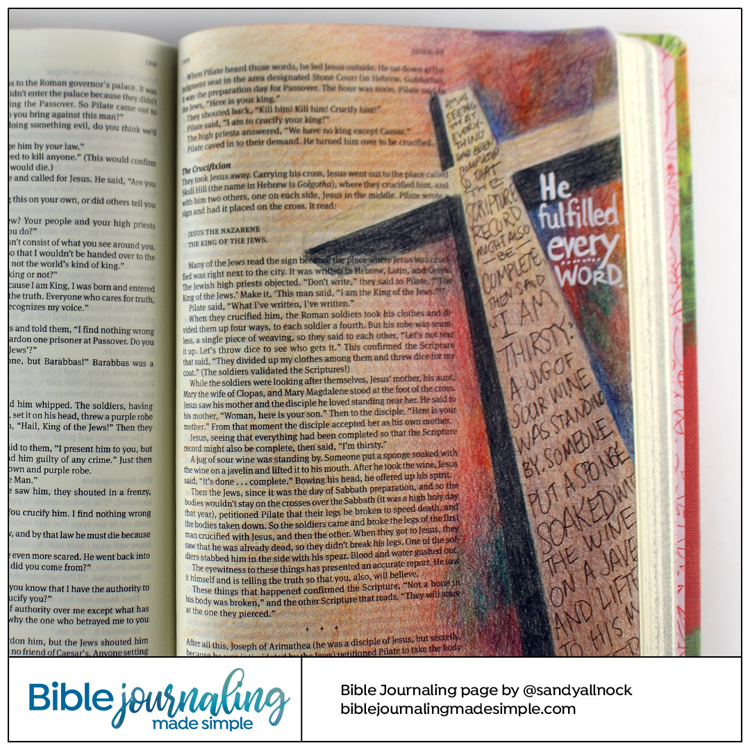 Bible Journaling John 19:24 Fulfilled Prophecies