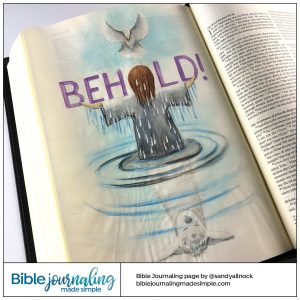 Bible Journaling John 1:29 Behold the Lamb