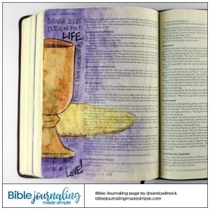 Bible Journaling Matthew 26:26-28 Communion