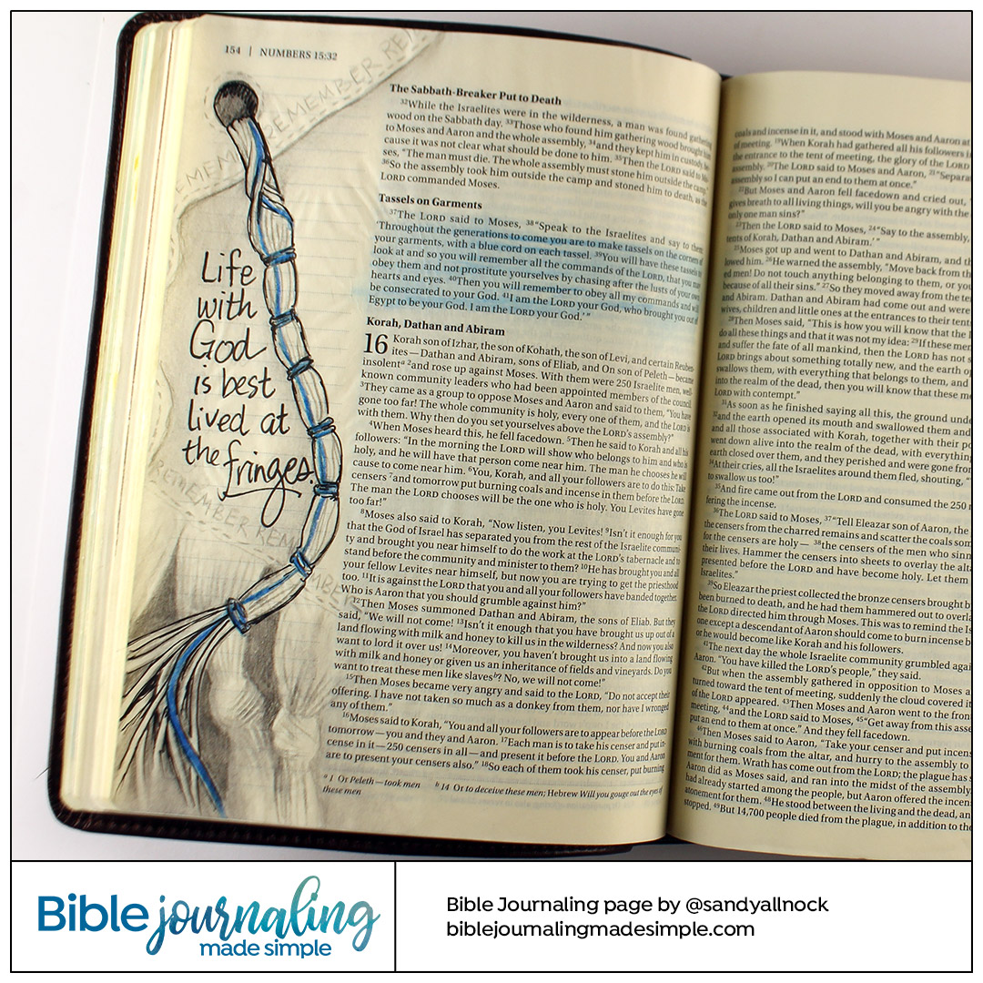 Bible Journaling Numbers 15:39 Remembrance Tassels