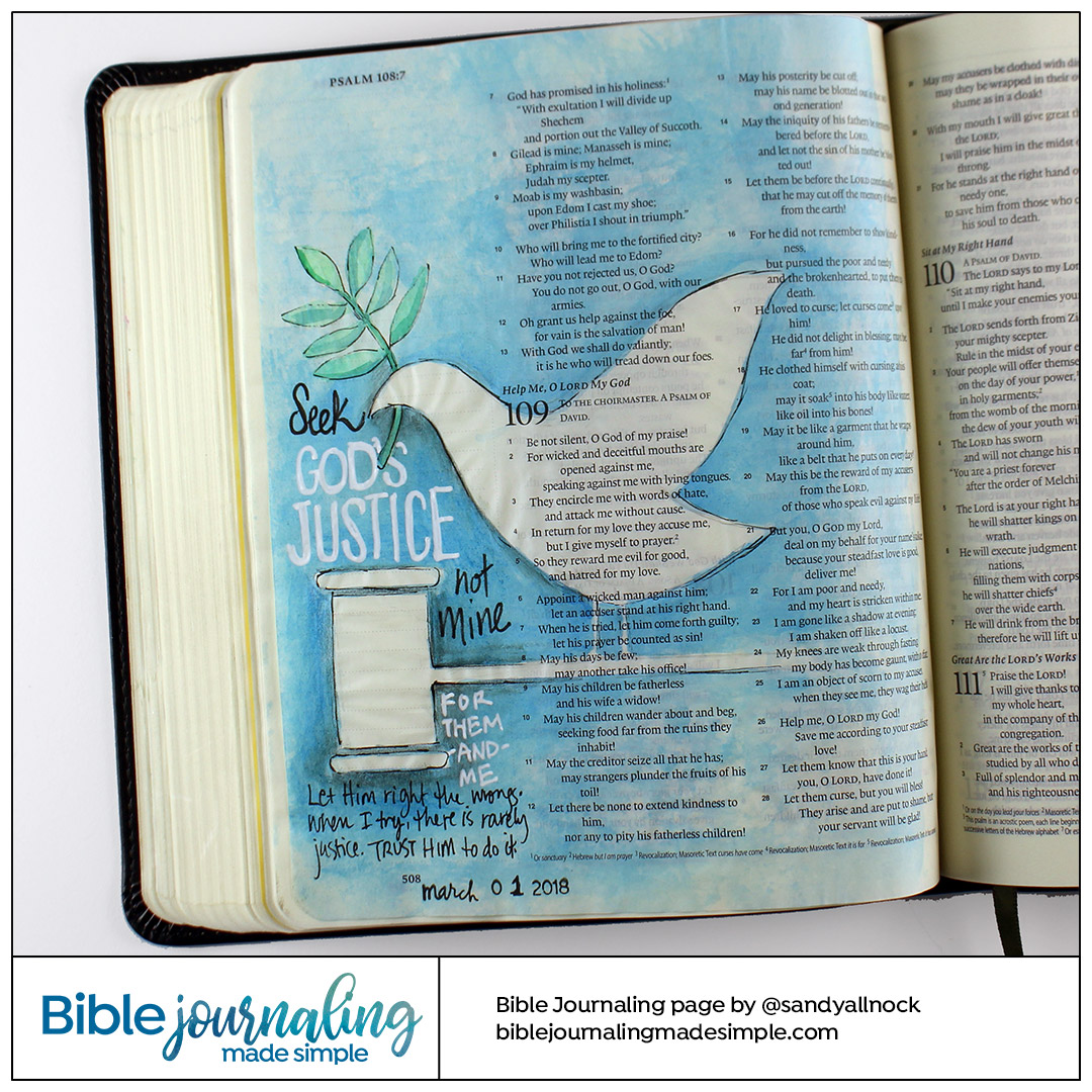Bible Journaling Psalm 109:1 God's Justice