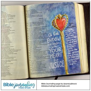 Bible Journaling Psalm 72:1 Sceptre