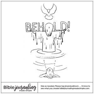 Downloadable Sketch of Jesus' baptism