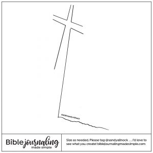 Downloadable Sketch of a cross at an angle